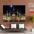 Hotel De Ville Night Paris France Huge Giant Print Poster