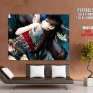 Asian Girl Back Tattoo Flowers Art Huge Giant Print Poster