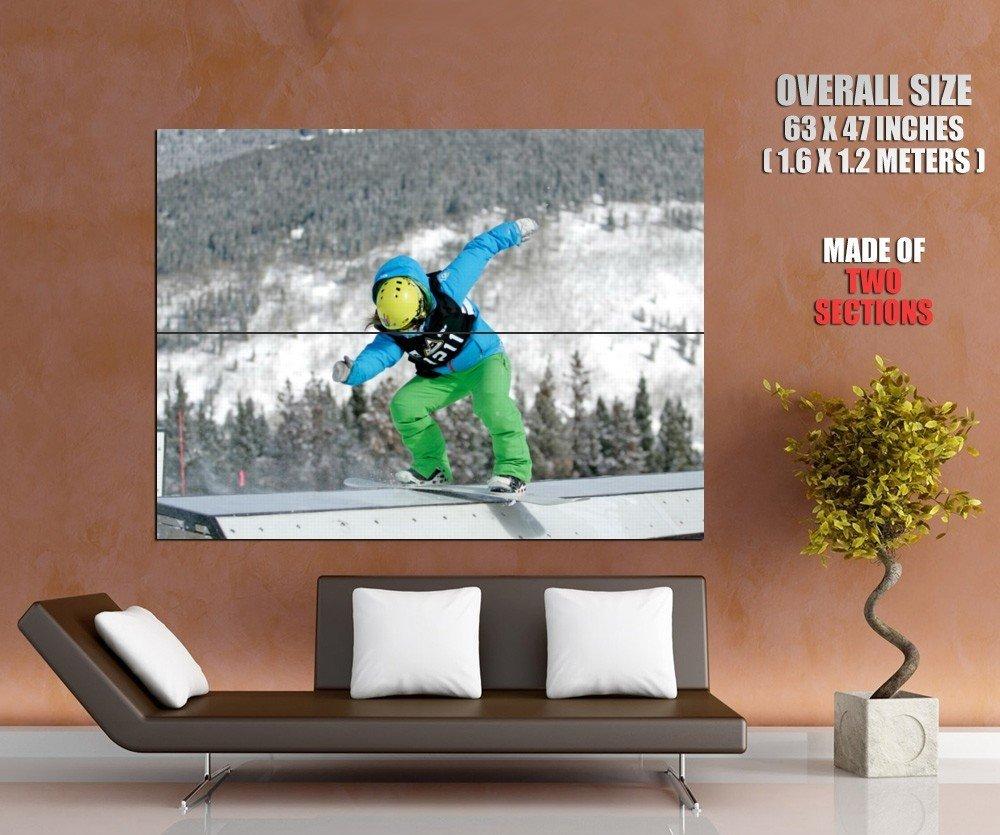 Snowboarding Sliding Extreme Sport Huge Giant Print Poster