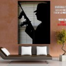 Gangster Silhouette Tommy Gun Mobster Outlaw Huge Giant Poster
