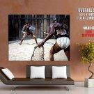 Kirk Douglas Gladiator Fight Spartacus Movie Vintage Huge Giant Poster
