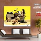 Live Free Chillout Dog Cool Art Huge Giant Poster