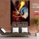 Songbird Vintage Propaganda Retro Art Huge Giant Poster