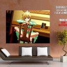 Hot Cute Pretty Girl Legs Chair Anime Art Huge Giant Poster