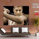 Maria Sharapova Sepia Wta Tennis Sport Huge Giant Print Poster