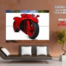 Red Ferrari Concept Bike Motorcycle Huge Giant Print Poster