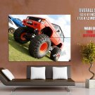 Range Rover Orange Crush Monster Truck Huge Giant Print Poster