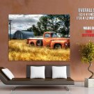 Rusty Old Red Pickup Truck Car Huge Giant Print Poster
