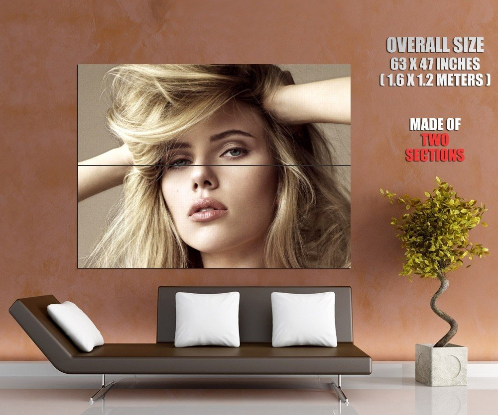 Hot Blonde Girl Portrait Pretty Face Huge Giant Print Poster