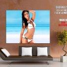 Carla Ossa Sexy Brunette Bikini Huge Giant Print Poster