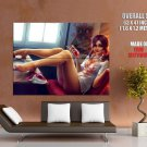Hot Girl Wet Shirt Nipple Pin Up Art Huge Giant Print Poster