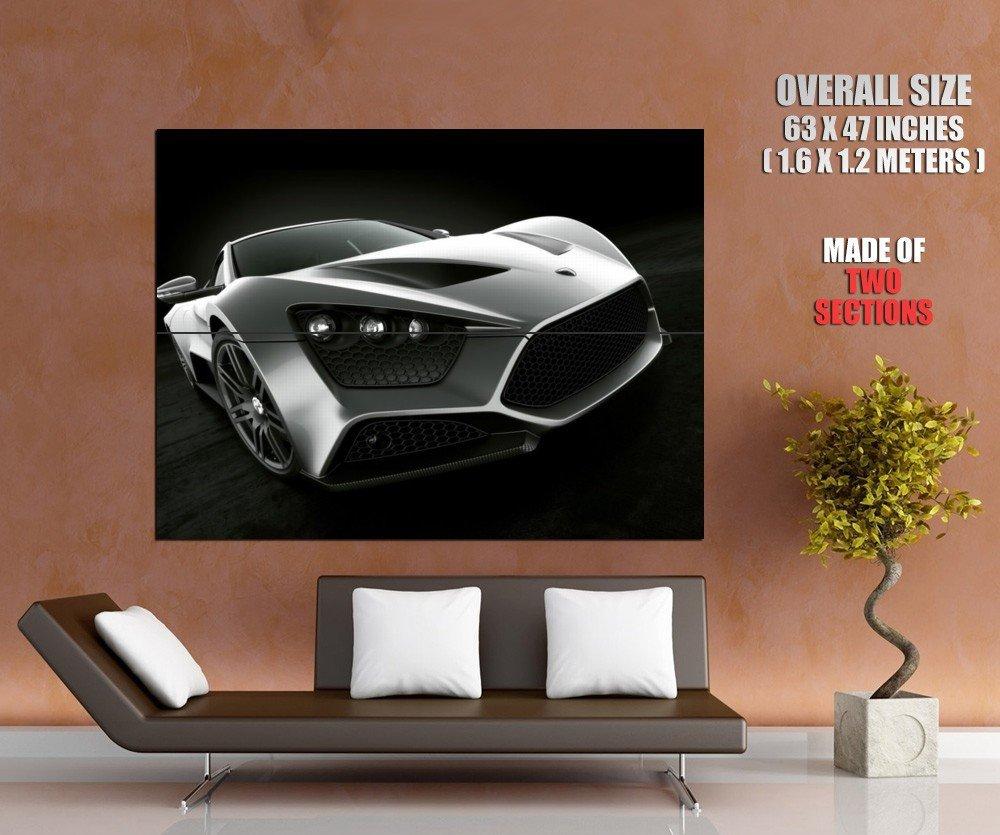 Zenvo St Dark Grey Supercar Huge Giant Print Poster