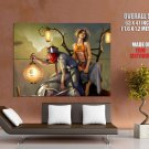 Paper Lanterns Hot Girl Fantasy Art Huge Giant Print Poster