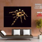 Glassy Neon Spider Rendering Art Huge Giant Print Poster
