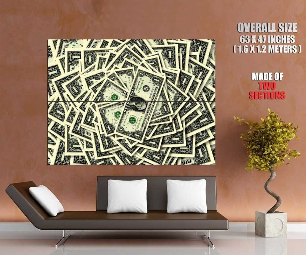 Money Pile Dollars 1 Cool Huge Giant Print Poster