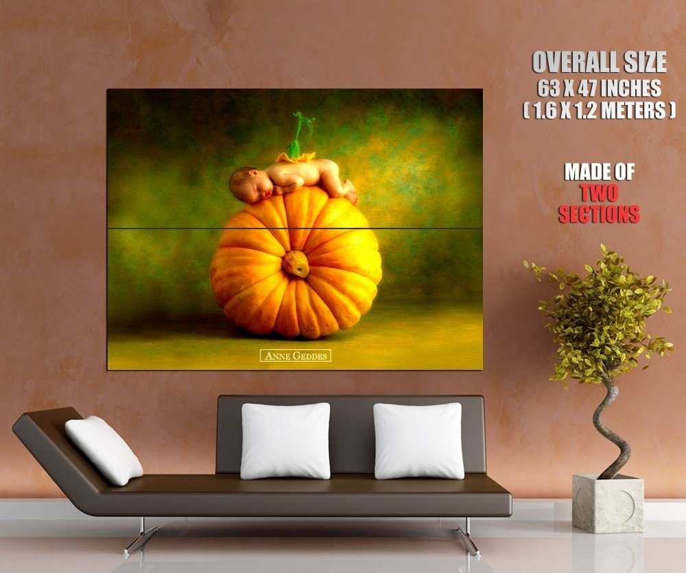 Halloween Pumpkin Kid Art Holiday Huge Giant Print Poster