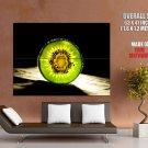 Kiwi Fruit Glassy Light Shadow Macro Huge Giant Print Poster
