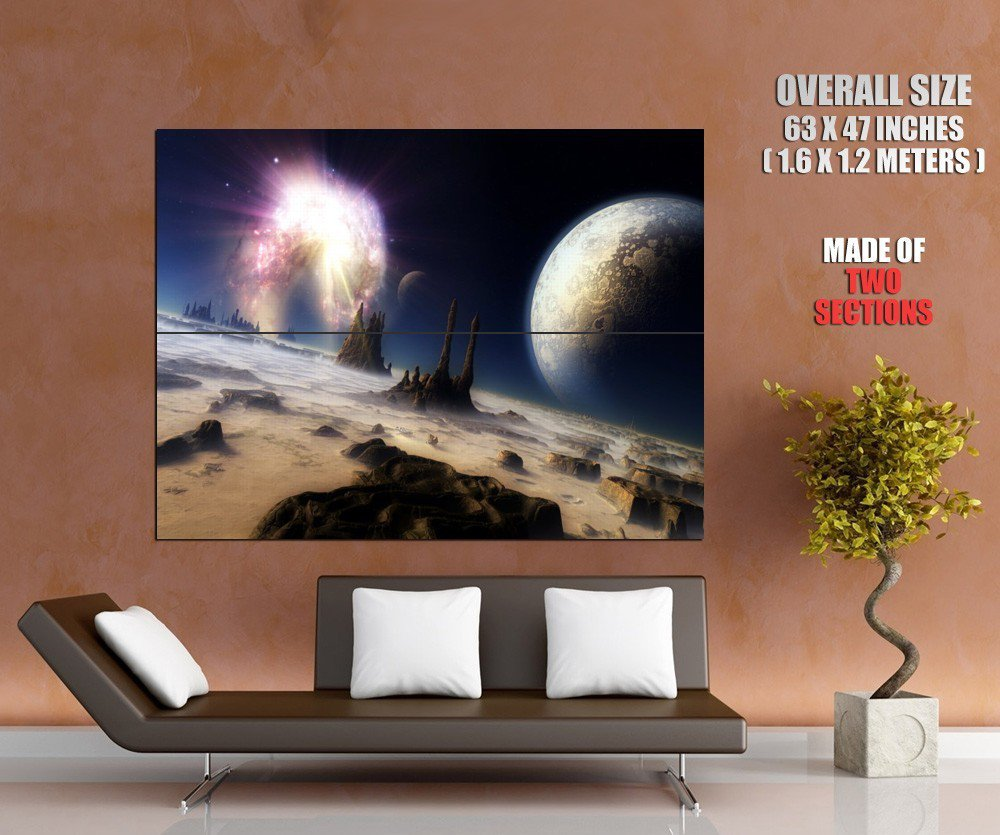 Fantastic Planet Surface Space Huge Giant Print Poster