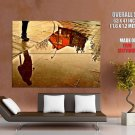 City Puddle Reflection Street HUGE GIANT Print Poster