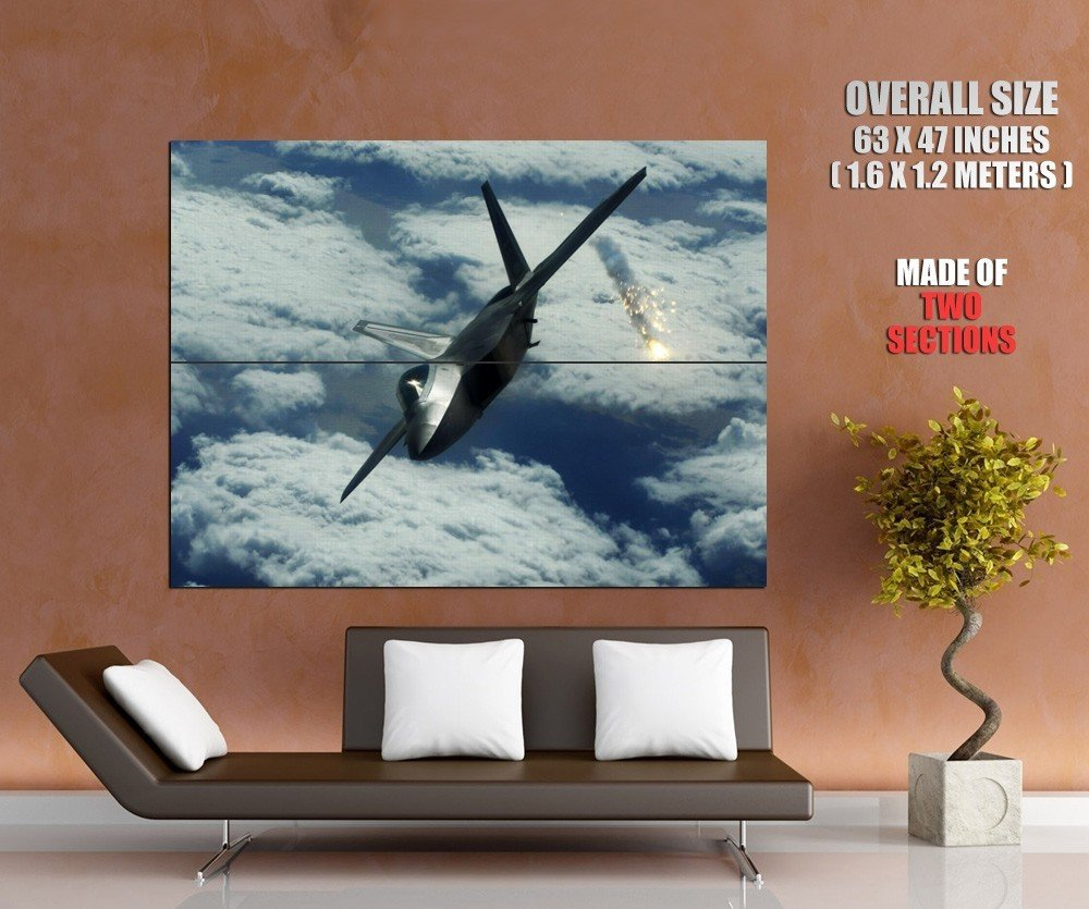 Military Flares Fighter Aircraft HUGE GIANT Print Poster