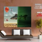 Fish Lure Desert Water Abstraction HUGE GIANT Print Poster