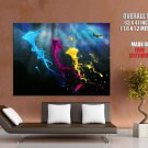 Cool Kites Colors Abstraction HUGE GIANT Print Poster