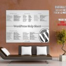 Word Press Help Sheet Cool Hi Tech Huge Giant Print Poster
