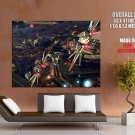 Coruscant Space Battle Star Wars HUGE GIANT Print Poster
