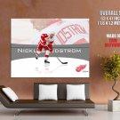 Nicklas Lidstorm Red Wings Nhl Huge Giant Print Poster