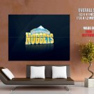 Denver Nuggets Logo Nba Basketball Huge Giant Print Poster
