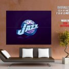 Utah Jazz Logo Basketball Nba Huge Giant Print Poster
