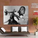Musician Trumpeter Jazz Louis Armstrong Singer Huge Giant Print Poster