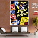 House Of Dracula Retro Movie Vintage HUGE GIANT Print Poster
