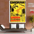 Ghidorah The Three Headed Monster Movie HUGE GIANT Print Poster
