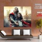 Thor The Dark World Thor Jane Movie 2013 HUGE GIANT Print Poster