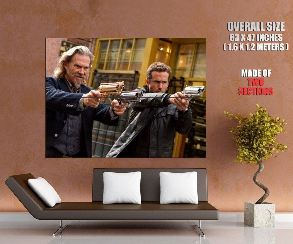 R I P D Jeff Bridges Ryan Reynolds Movie Huge Giant Print Poster