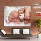 Cute Sleeping Baby Child Huge Giant Print Poster
