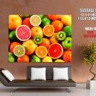 Fruits Colors Macro Food Huge Giant Print Poster