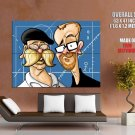 Mythbusters Adam Jamie Art Tv Show Huge Giant Print Poster