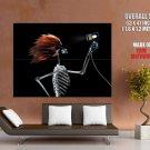 X Ray Skeleton Blowdryer Cool Art HUGE GIANT Print Poster