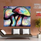 Psychedelic Mushrooms Painting Art HUGE GIANT Print Poster