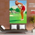 Vintage Pin Up Gil Elvgren Golf Art Huge Giant Print Poster