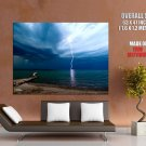 Lightning Beach Ohio National Geographic HUGE GIANT Print Poster