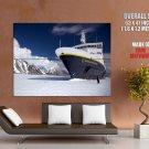 Explorer Ship Antarctica National Geographic HUGE GIANT Print Poster