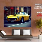 Ferrari Yellow Retro Car Huge Giant Print Poster