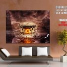 Fantasy Temple Fire Painting Art HUGE GIANT Print Poster