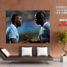 Yaya Toure Mario Balotelli Manchester City HUGE GIANT Print Poster