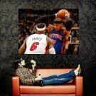 Carmelo Anthony Vs Lebron James Knicks NBA Huge 47x35 Print POSTER