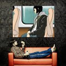Girl Music Bus Window Cool Art Huge 47x35 Print POSTER