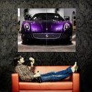 Ferrari 599 GTB Fiorano Front Purple Car Huge 47x35 Print POSTER